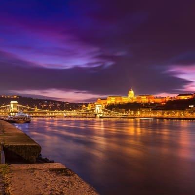 Budapest, Hungary at night.